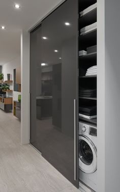 satniskrin skrin wardrobe slidinigdoor offene K che - My Modern Laundry Rooms, Laundry Room Design, Modern Bathroom, Small Bathroom, Bathroom Ideas, Boho Bathroom, Bathroom Vanities, Dream Bathrooms, Luxurious Bathrooms