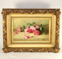 Oil on Canvas Painting with Rare Gilt Frame by California Artist Maria Runkel Johnson (1861-1943)