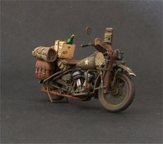 Military motorcycles are important part of scale modeling What about this one? Zombie Survival Vehicle, Miniatur Motor, Harley Davidson Wla, Dragon Wagon, Miniature Cars, Model Tanks, Model Hobbies, Modelos 3d, Military Diorama