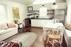 Living with Less: A 665 Square-Foot Cabin (for 5!) — Assortment ..love this quaint little home