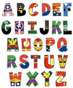 Alfabeto super heróis...