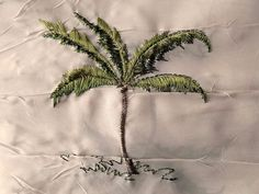 """Rectangular Tablecloth TAUPE CRUSHED SHEER PALM TREE Dining Table Cover 60""""x90"""" #Unbranded"""