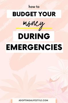 How to budget your money during emergencies! This the complete guide to budgeting your money during a natural disaster or job loss. Find out exactly how to take control of your finances! | how to budget your money | best budgeting tips | budget after job loss | #budgetingtips #financialfreedom #howtobudget Finance Blog, Finance Tips, Cash Envelope System, Budget Planner, Budgeting Tips, Natural Disasters, Money Management, Personal Finance, Need To Know