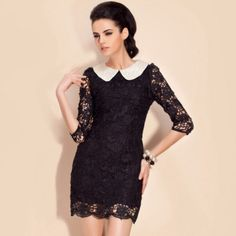 TS Pearl Embellished Lace Dress (More Colors) – US$ 45.49