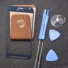 """Blue For 5.1"""" Samsung Galaxy S6 active SM-G890 Front Glass Screen + Tool…"""