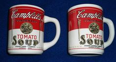 Campbell Soup mugs....The factory in Sacramento closed in July 2013 after 60 years