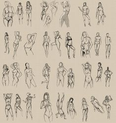 Timed Figure Sketches 3 by Pseudolonewolf