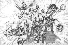 DC characters fan art by scabrouspencil