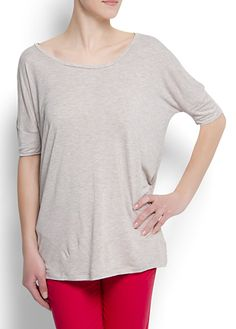 relaxed-fit nude top