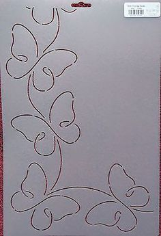 Stencil Quilting Promise Border 4 Butterflies Butterfly quilt QC in Crafts, Sewing & Fabric, Quilting Quilting Stencils, Quilting Templates, Longarm Quilting, Free Motion Quilting, Border Templates, Patchwork Quilting, Quilting Stitch Patterns, Machine Quilting Patterns, Quilt Stitching