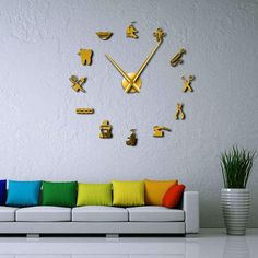 Dental Pattern Wall Clock for Ultimate Dentist Office Decor Wall Clock Frameless, Decoration, Art Decor, Room Decor, Giant Wall Clock, Clock Wall, Mur Diy, Wall Watch, Unique Clocks