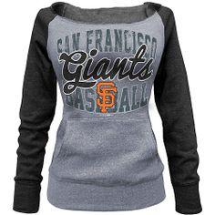 San Francisco Giants Women's Tri-blend Fleece Raglan Sweatshirt by 5th & Ocean - MLB.com Shop