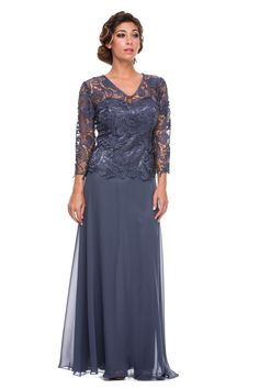Mother of the Bride Formal Gown 5040NX-STEEL-XL