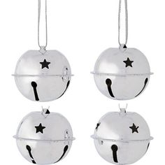 Pack of 10 Silver Bell Baubles at Homebase -- Be inspired and make your house a home. Buy now.