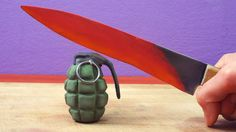 EXPERIMENT Glowing 1000 degree KNIFE Parody Stop Motion  #stopmotion #parody #animation #claymation #hotknife