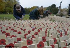 For soliders lost in war.  Lest we forget.