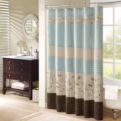 Shop for Madison Park Belle Faux Silk Embroidered Floral Shower Curtain. Get free delivery On EVERYTHING* Overstock - Your Online Shower Curtains & Accessories Store! Decor, Home Essence, Red Barrel Studio, Floral Shower Curtains, Shower Curtain, Farmhouse Master Bathroom, Free Standing Bath Tub, Colorful Curtains, Bed Bath And Beyond