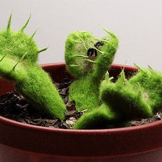 Or needle felt some treacherous Venus fly traps. | 17 Faux Gardens For People Who Can't Keep Plants Alive