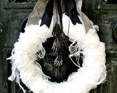 Halloween Wreath, Ghoulish Delight Wreath. $120.00, via Etsy.
