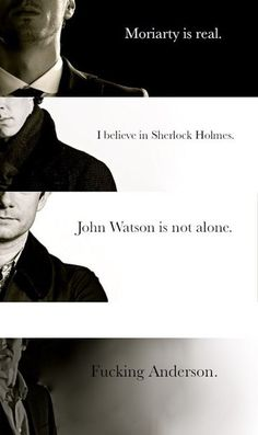 Got to say, I laughed at Anderson. lol. Sherlock just hates him sooo much!