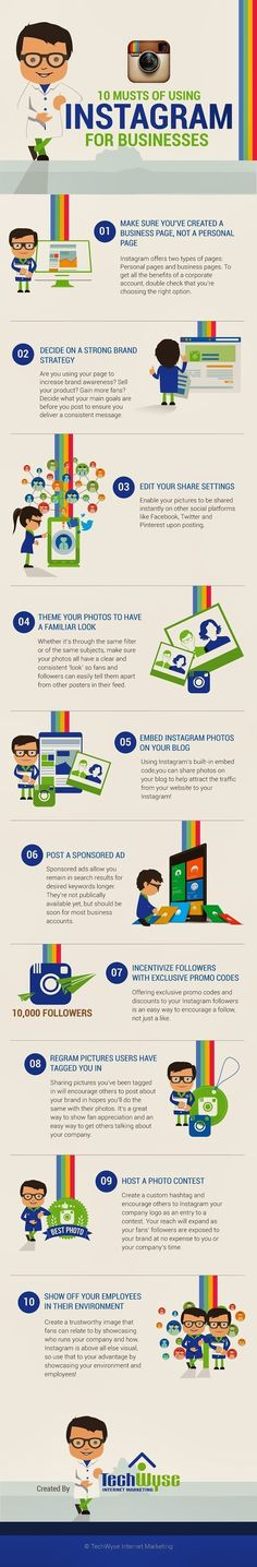 How To Use Instagram For Businesses #INFOGRAPHIC