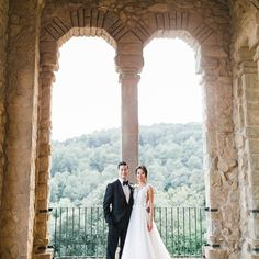One Couple's Elegant Destination Wedding in Spain's Montserrat Mountains wedding mountains Beautiful Roman Ruins Were the Backdrop for This Couple's Nuptials in Girona, Spain Elope Wedding, Dream Wedding, Elopement Wedding, Elegant Couple, Eclectic Wedding, Ceremony Seating, Destination Wedding Locations, Modern Romance