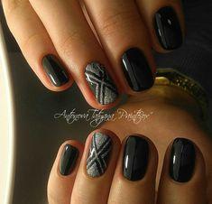 Short Nail Designs, Cute Nail Designs, Hot Nails, Hair And Nails, Great Nails, Nagel Gel, Black Nails, Nails On Fleek, Nail Arts