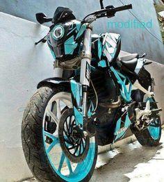 KTM in Carolina Blue. Looking like a GD transformer!