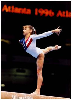 Dominique Moceanu She was my inspiration when I was going through my gymnastics years!