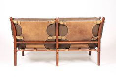 Ilona Sofa in Patinated Leather by Arne Norell | From a unique collection of antique and modern lounge chairs at https://www.1stdibs.com/furniture/seating/lounge-chairs/