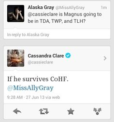 NOT EVEN FUNNY <- guys he's Magnus the fabulous. he'll survive <-- but the fact that she went there o.O i can't do this ...