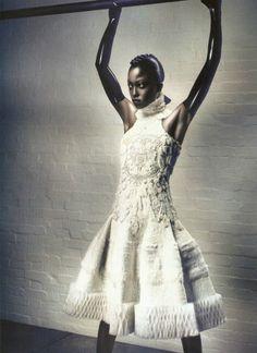 Nyasha Matohondze in 'Strangelove' Photographer: Sølve Sundsbø Dress: Alexander McQueen F/W 2011/12 Love #6 F/W 2011/12