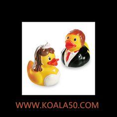 Patitos de Goma Pareja Novios - 3,44 €  Lospatitos de goma pareja noviosson un original y divertido detalle con el que sorprender a tu pareja en ocasiones especiales. Además, son también un juguete excelente para los más pequeños,...  http://www.koala50.com/regalos-para-bodas-comuniones-bautizos/patitos-de-goma-pareja-novios