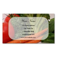 fruit vegetable 5 business card - Best Place To Order Business Cards