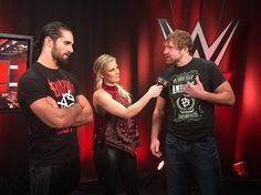 Dean Ambrose, Renee Young, Seth Rollins