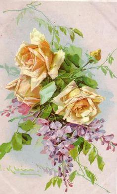 старинные открытки с розами: 10 тыс изображений найдено в Яндекс.Картинках