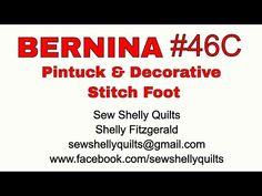BERNINA #46 pintuck and decorative stitch foot