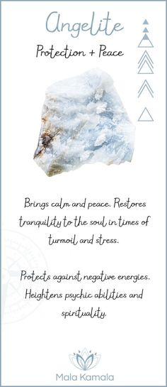 What is the meaning and crystal and chakra healing properties of angelite?