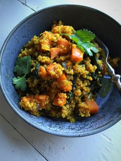 One-pot quinoa med søtpotet, spinat og linser – Maj-Britt Aagaard