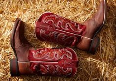 I really want a pair of red cowboy boots!