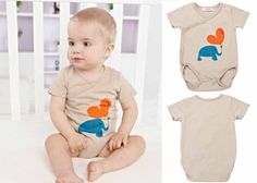 Infant Baby Boy Girls Short Sleeve Bodysuits Romper Jumpsuit Outfit Khaki 0-3M #ibaby #Everyday