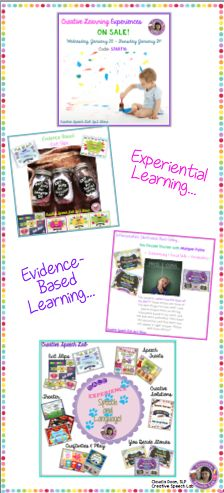 Teaching speech & language through creative EXPERIENCES (and a sale!)