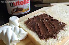 PANELATERAPIA - Blog de Culinária, Gastronomia e Receitas: Panini de Nutella e Marshmallow