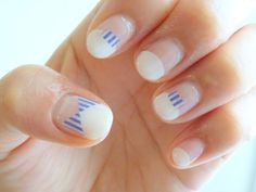 DIY NAILS | striped accents