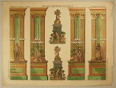 Imagerie d'Épinal, No. 1629. Grand Théâtre Nouveau. Coulisses du Palais.
