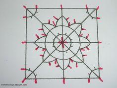 Dentelles d'abord: Tutorial: merletto ad ago geometrico (Reticella)