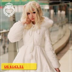 Princess sweet lolita coat Brocade Garden Winter thick warm overcoat long coat fairy tale style artificial down jacket ZJY057
