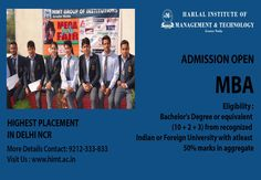 Admission open For #MBA  Highest #Placement College in Delhi NCR More Info Visit here @himt.ac.in