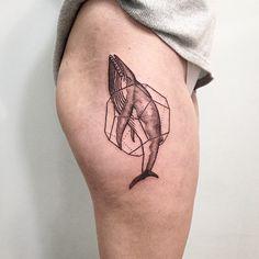 Roma Severov whale tattoo