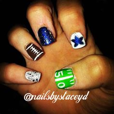 Dallas Cowboys Nail Art Football Cowboys Nail Designs
